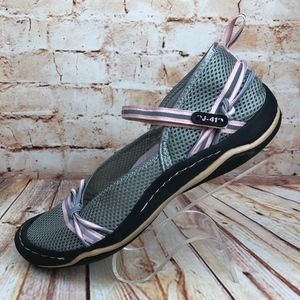 J-41 Misty Gray Pink Mary Jane Walking Shoes